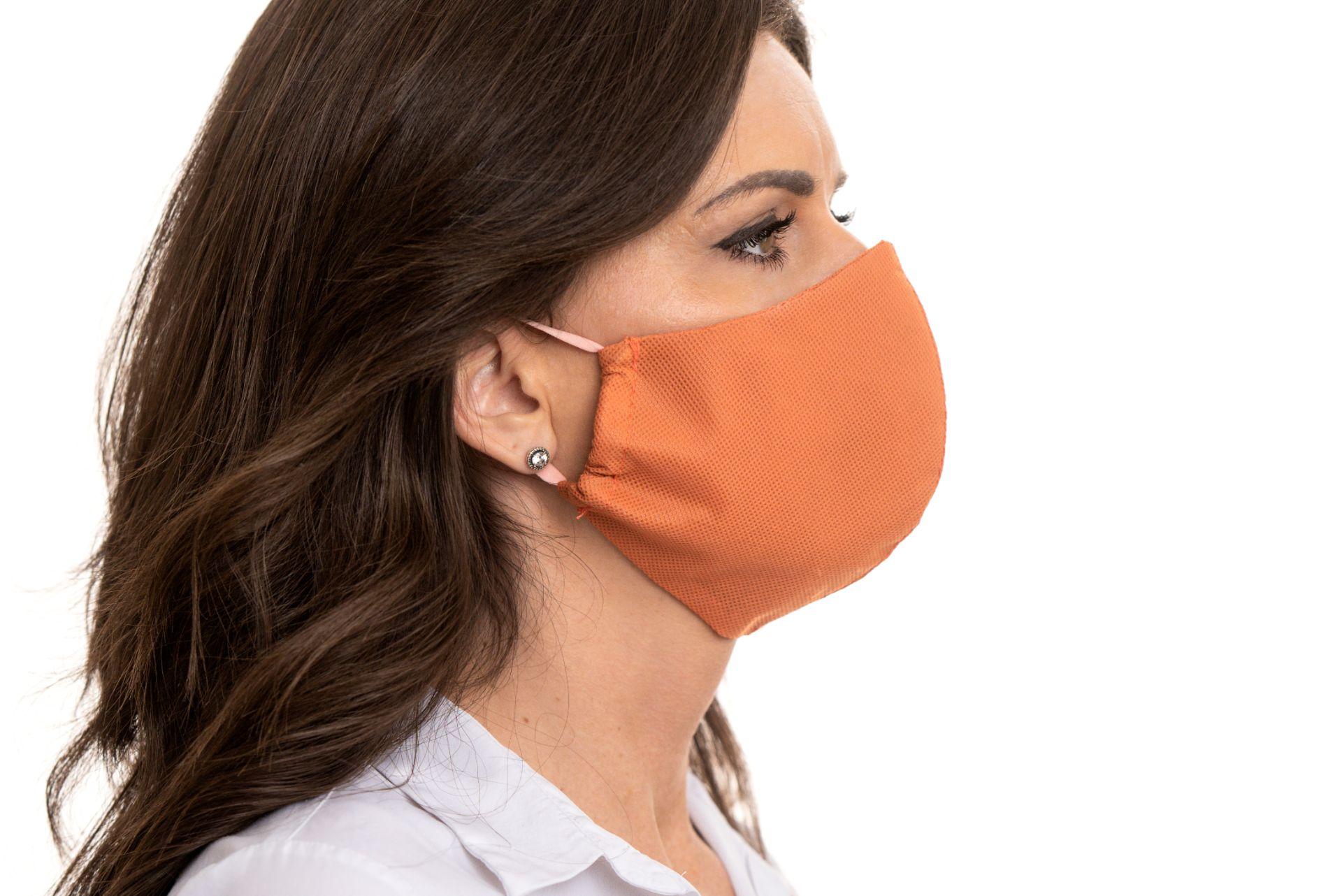 Rúška na tvár – Oranžová (5 kusové balenie)  OCHRANNÉ RUŠKA